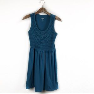 Mossimo Supply Co. Knit Blue Sleeveless Dress Sm